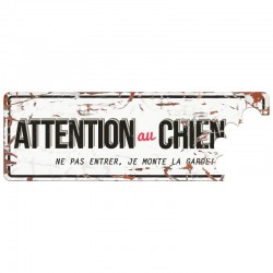 Plaque de garde : Attention...