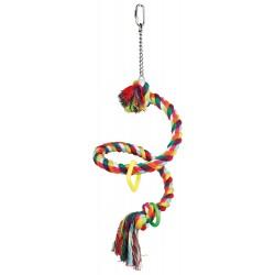 Perchoir en corde spirale