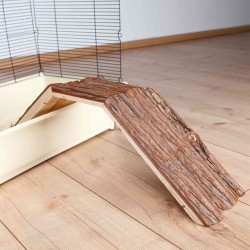 Pont en bois naturel pour...